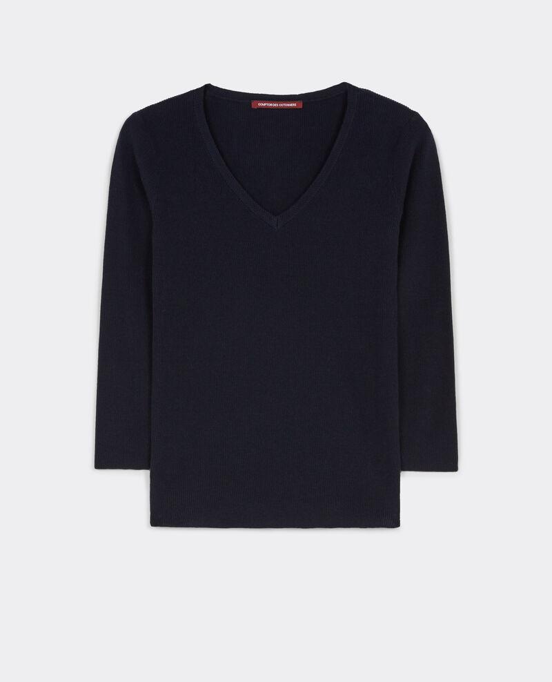 Cotton and cashmere jumper Dark ocean Bacardi