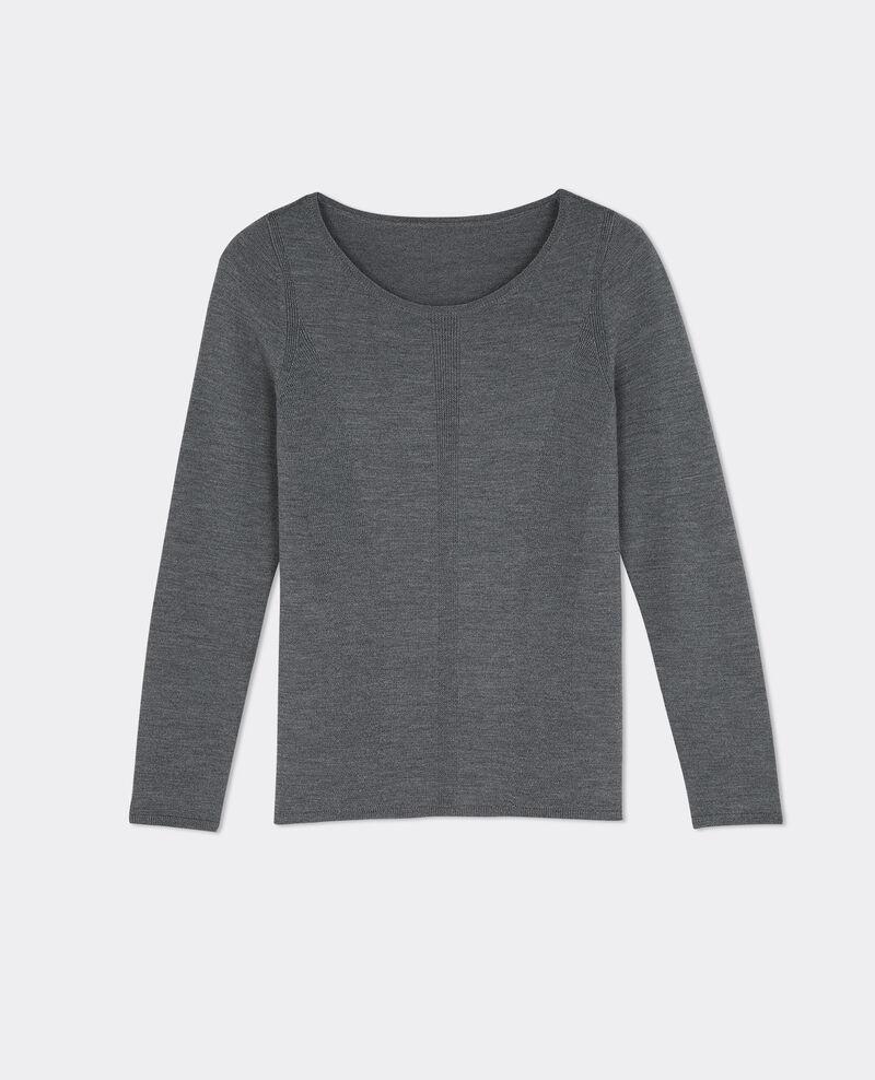 Merino wool jumper Gris fonce Boulbi
