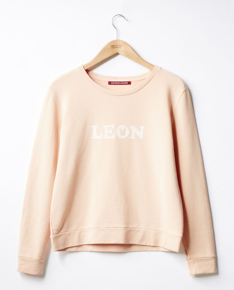 Embroidered Léon sweatshirt Nude Douchoir