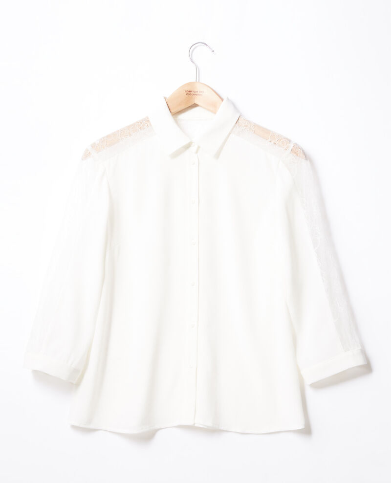 Shirt with lace Off white Fondre