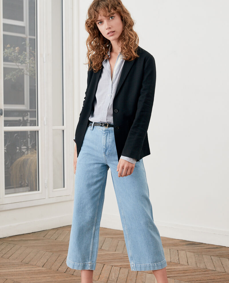 Wide cropped jeans LIGHT INDIGO