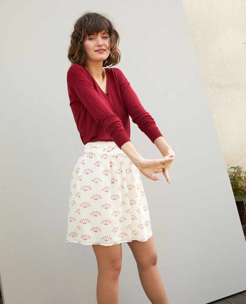 Short skirt LOTUS FAN WINTER WHITE