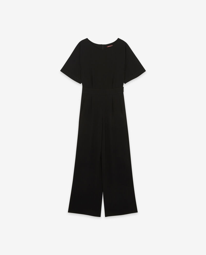 Crepe jumpsuit Noir Disabelle