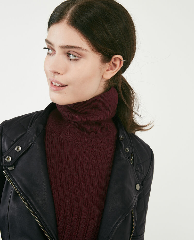 Leather jacket Noir Dablique