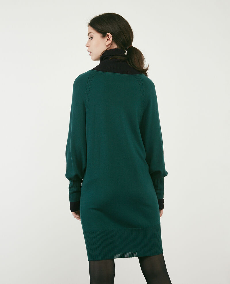 100% merino dress Deep green Doison