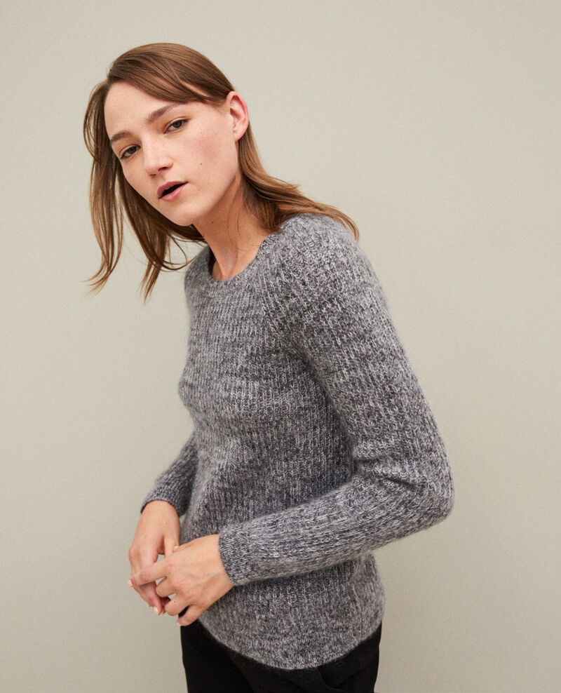 Flecked mohair jumper LIGHT GREY/NOIR/SILVER GRAY