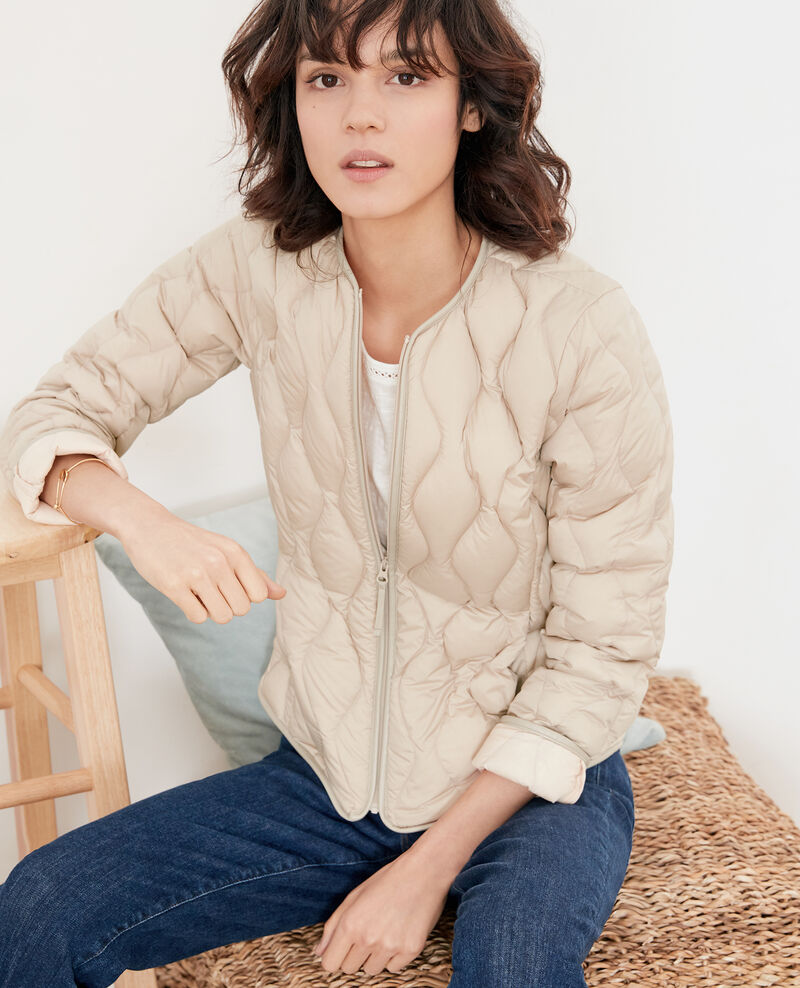 Pocketable puffa jacket Tan/nude Folin
