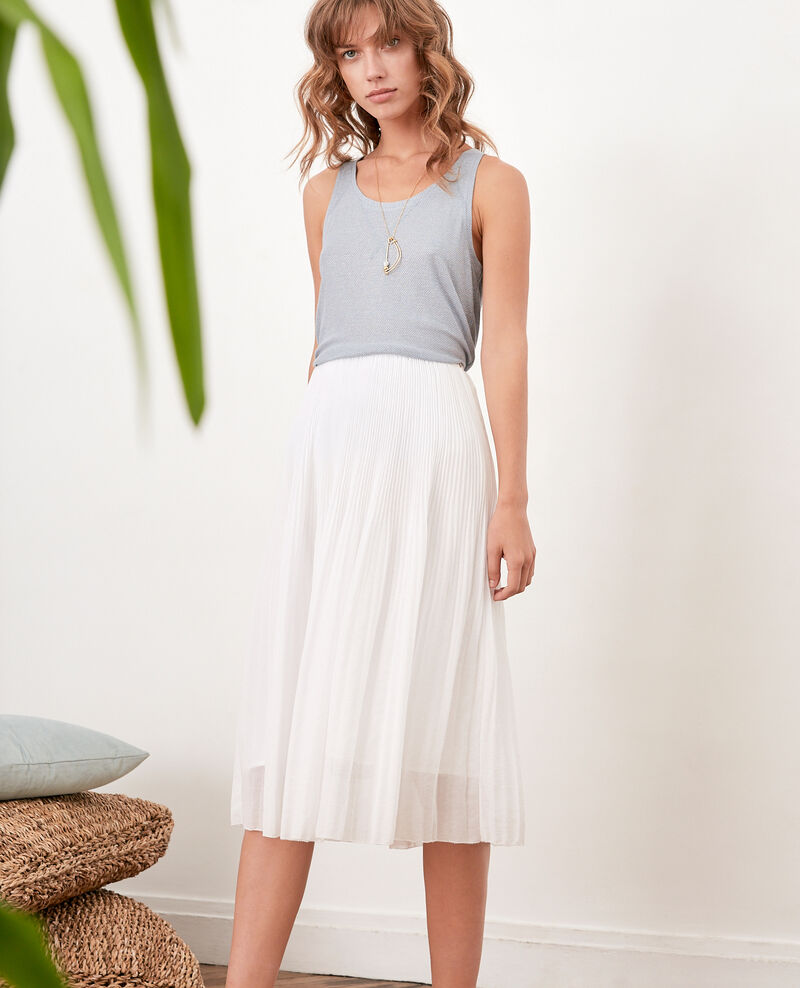 Pleated skirt BLANC