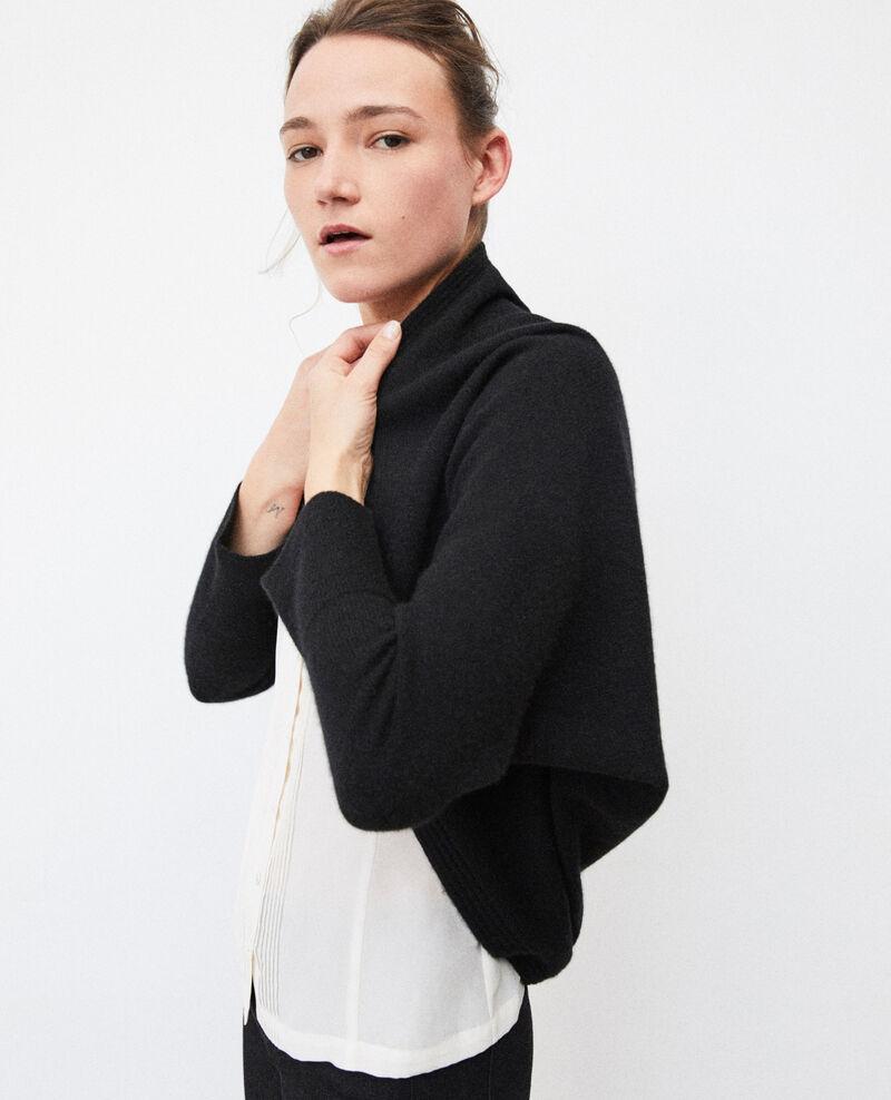 Cashmere blend bolero-style jumper NOIR