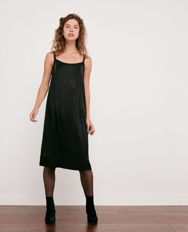 Satin-effect dress NOIR