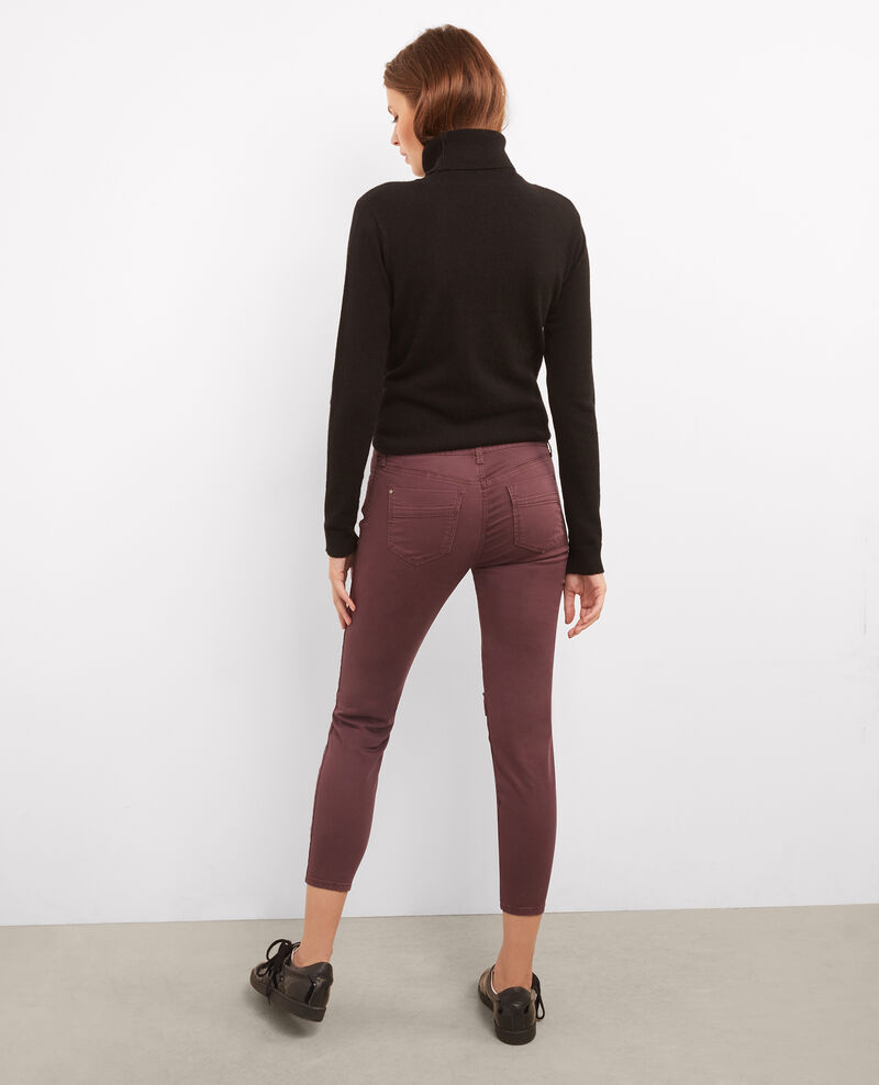 Cropped jeans Maroon Bagio