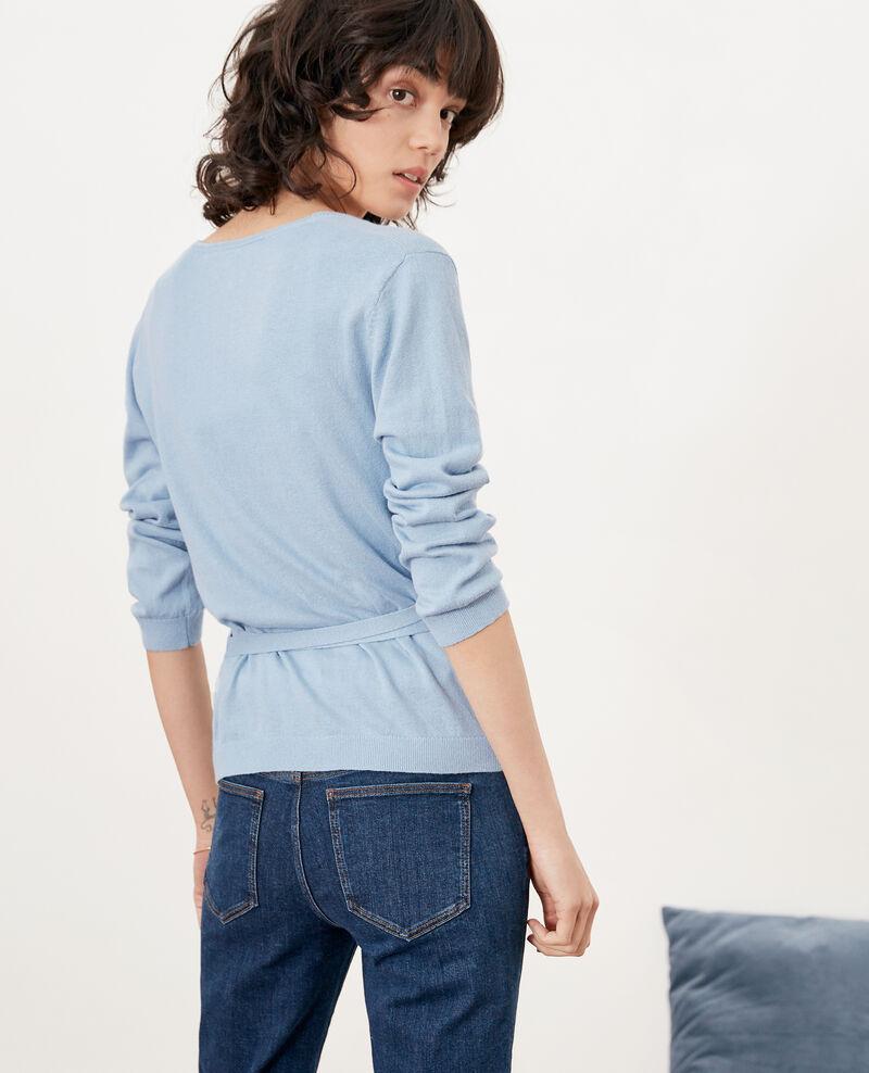 Wrap cardigan with linen Azur Fulaga