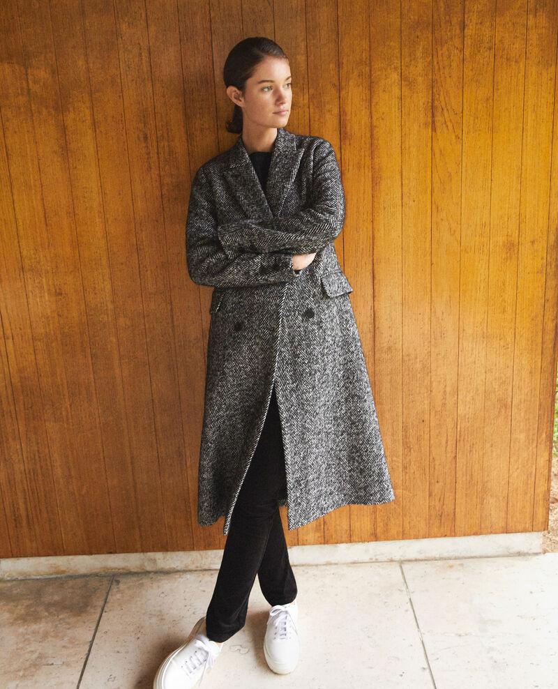 Timeless tailored coat Noir/blanc Gurguy