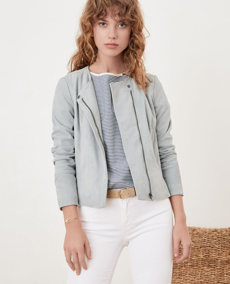 Short suede jacket Silvergreen Fayth