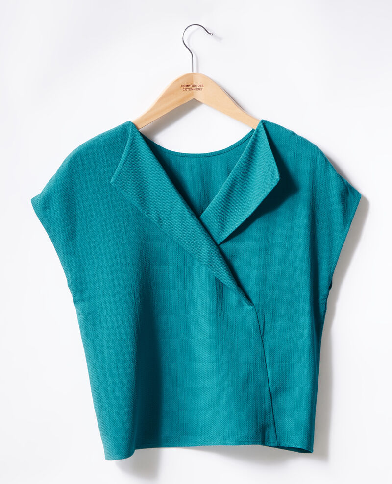 Top with low-cut back Pacific green Fevrier