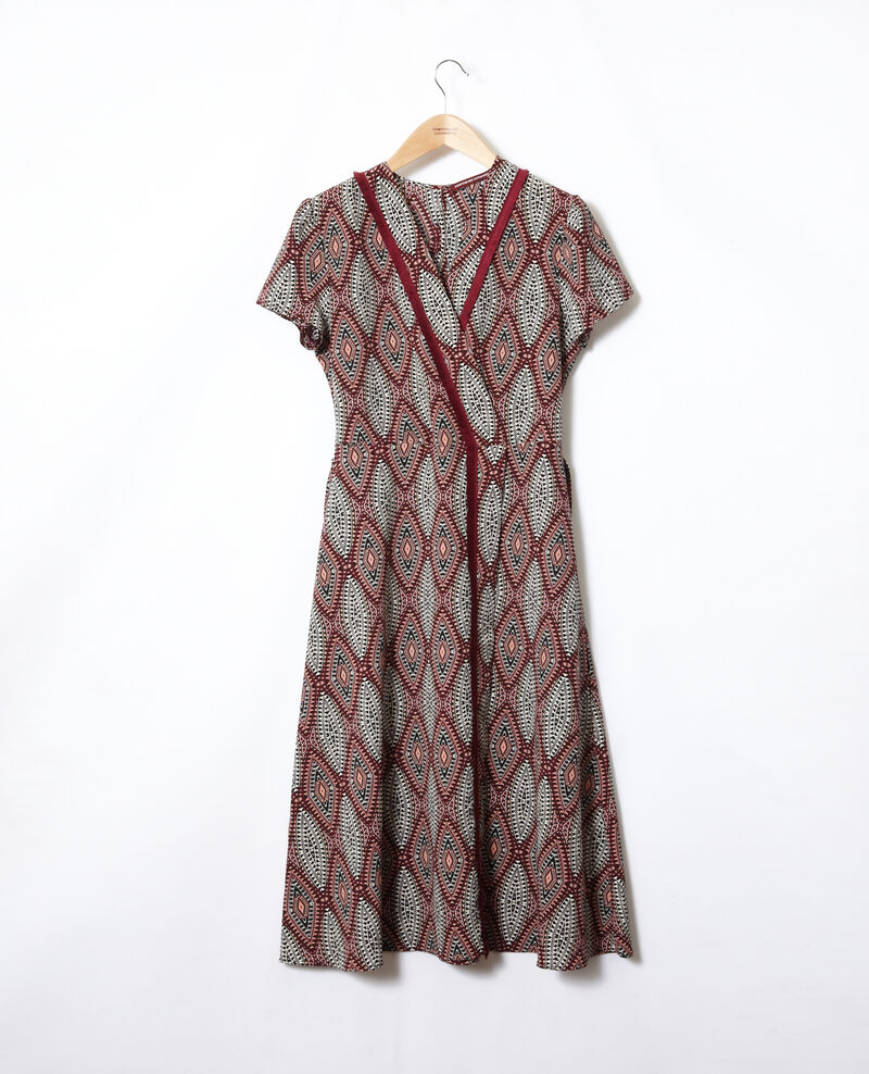 Printed maxi dress Ikat auburn Fhloe