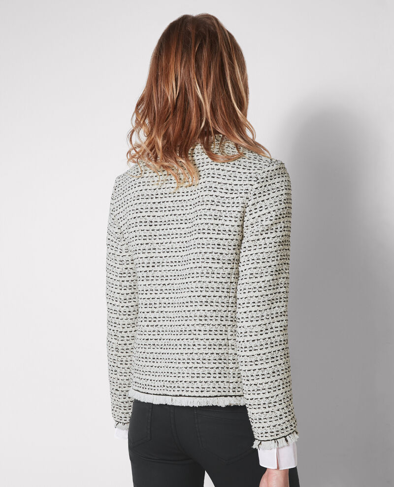 Open tweed jacket Black/white Ciao