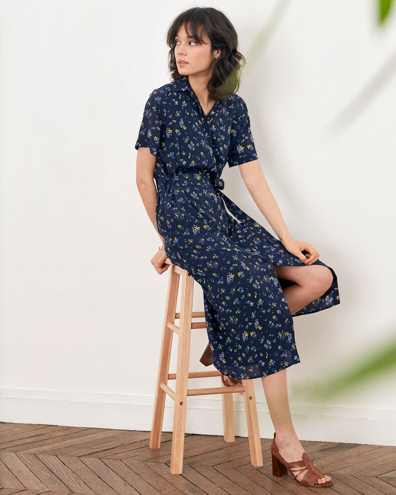 Printed dress LILLYBELL NAVY