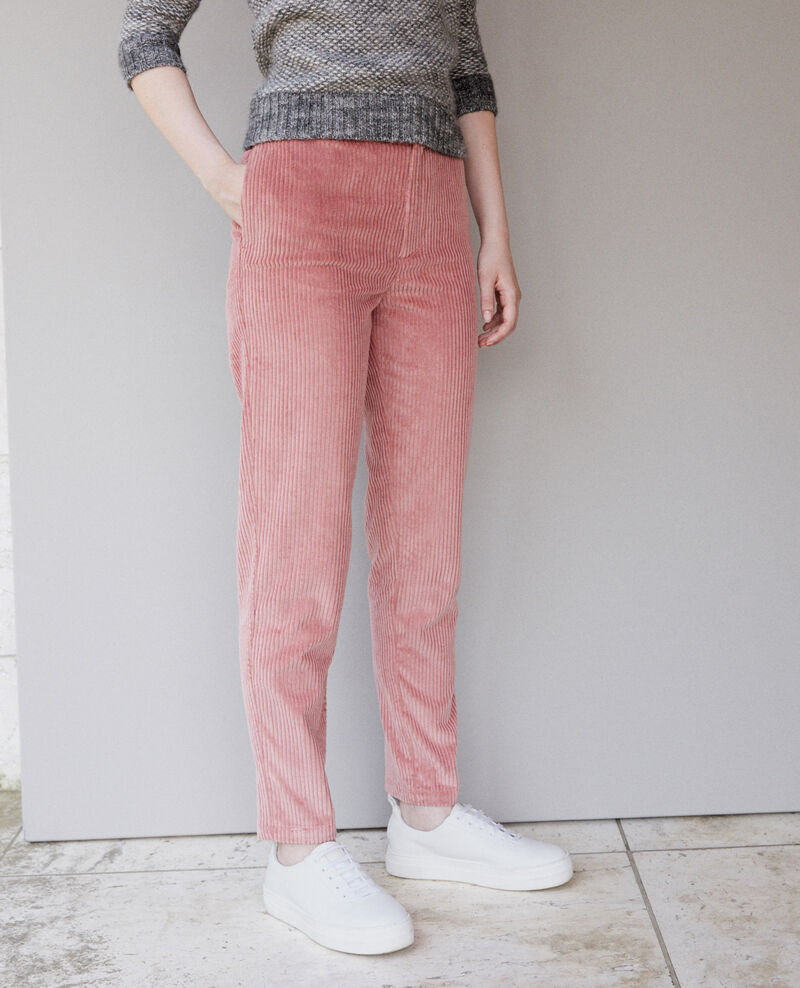 Ribbed corduroy trousers Old rose Ganasso
