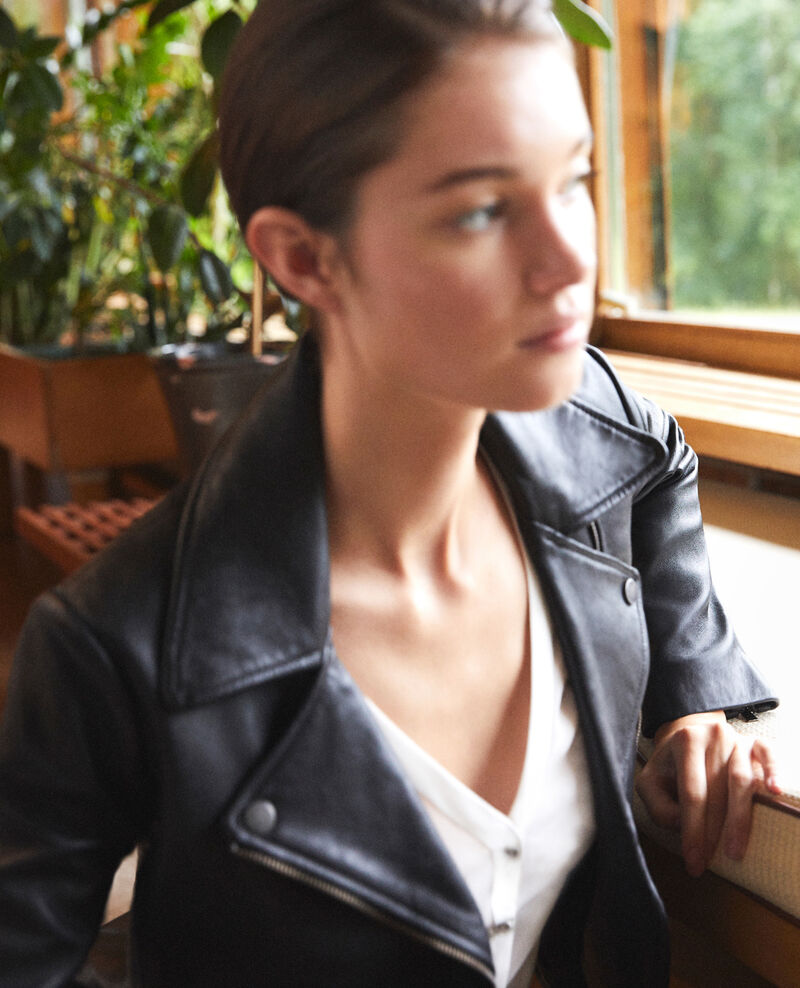 Timeless leather jacket  Noir Galaxie