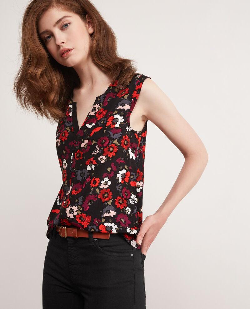 Printed blouse Poppies black Donjuan