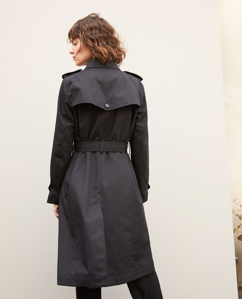 Mid-length trench coat Noir Gabien