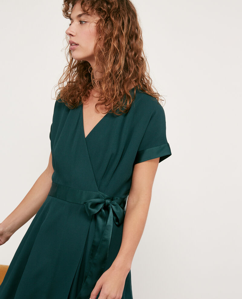 Wrapover dress Deep green Dannecha