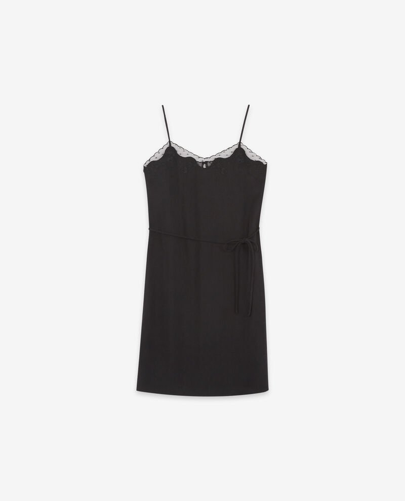Camisole slip dress Noir Danuit