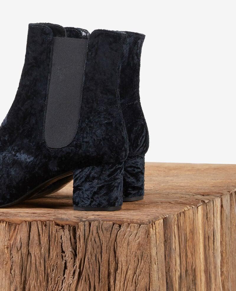 Structured velvet boots Noir Destinbis
