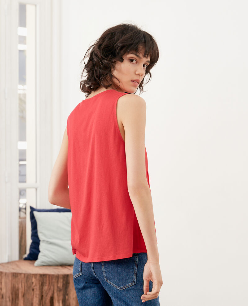 Sleeveless top Ultra pink Foe
