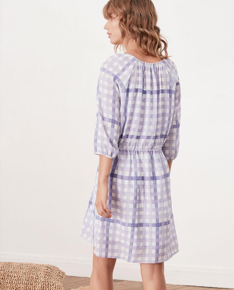 Printed dress Ghingham iris Fajitas