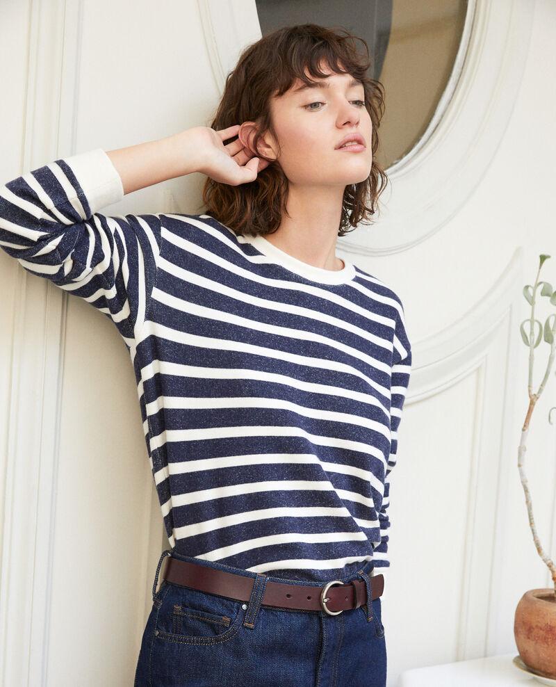Striped sweatshirt OFF WHITE/PEACOAT
