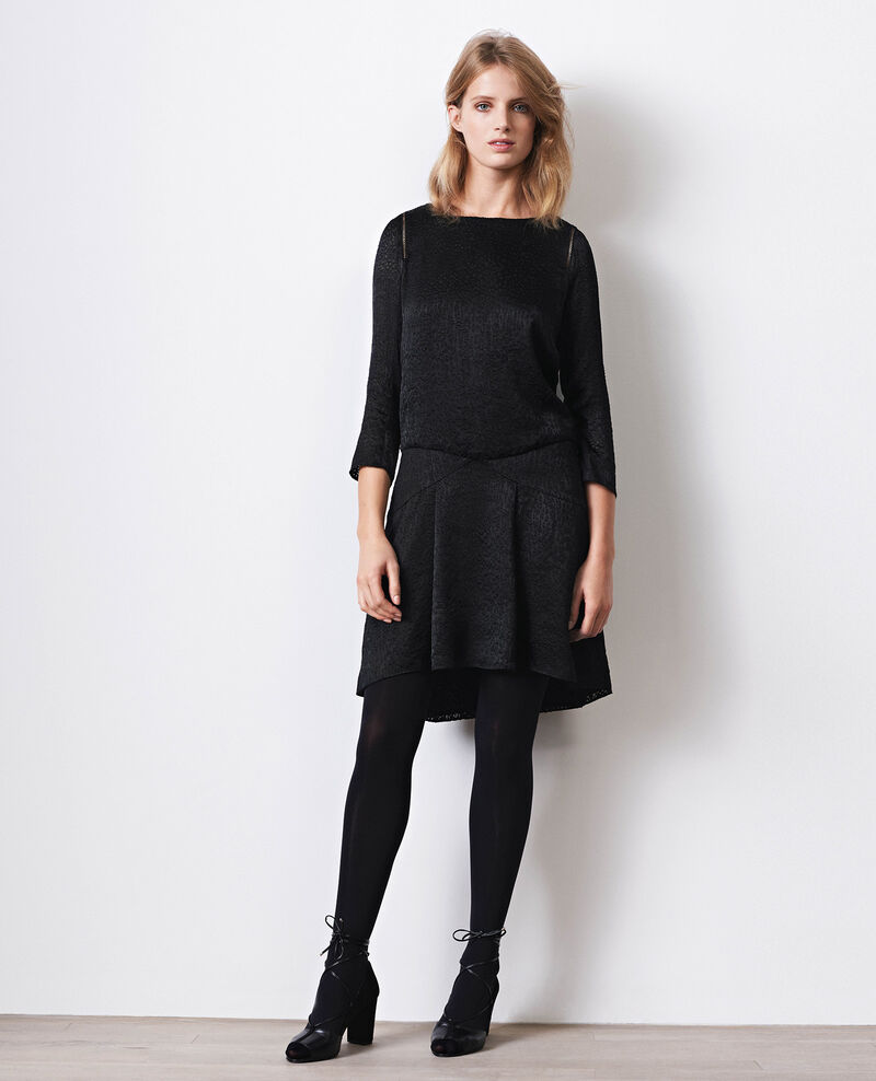 Dress with openwork details Noir Cristal