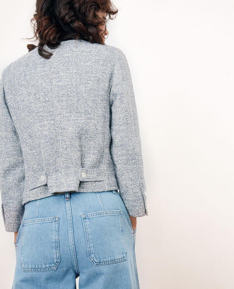 Short tweed jacket Indigo/off white Faiza