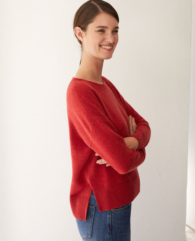 Cashmere jumper POMPEIAN RED