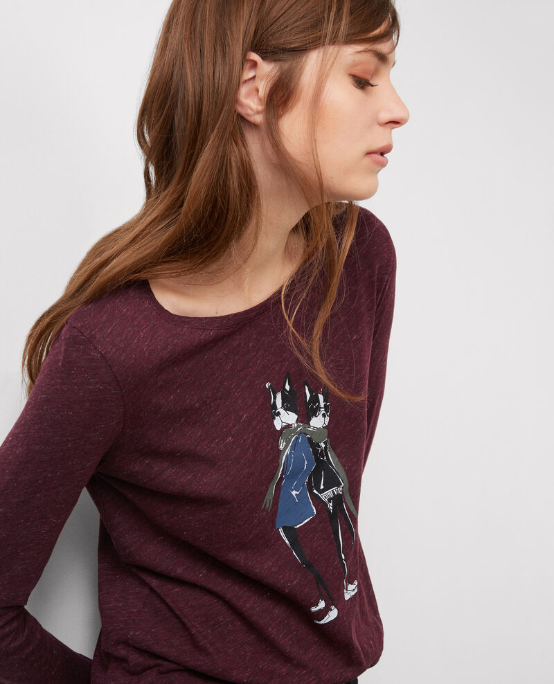 T-shirt with Léon print Amore Bahut