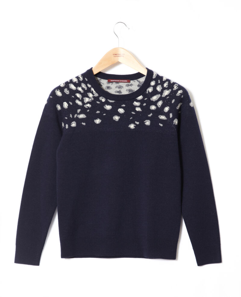 Printed jumper Bl peacoat Gleopard