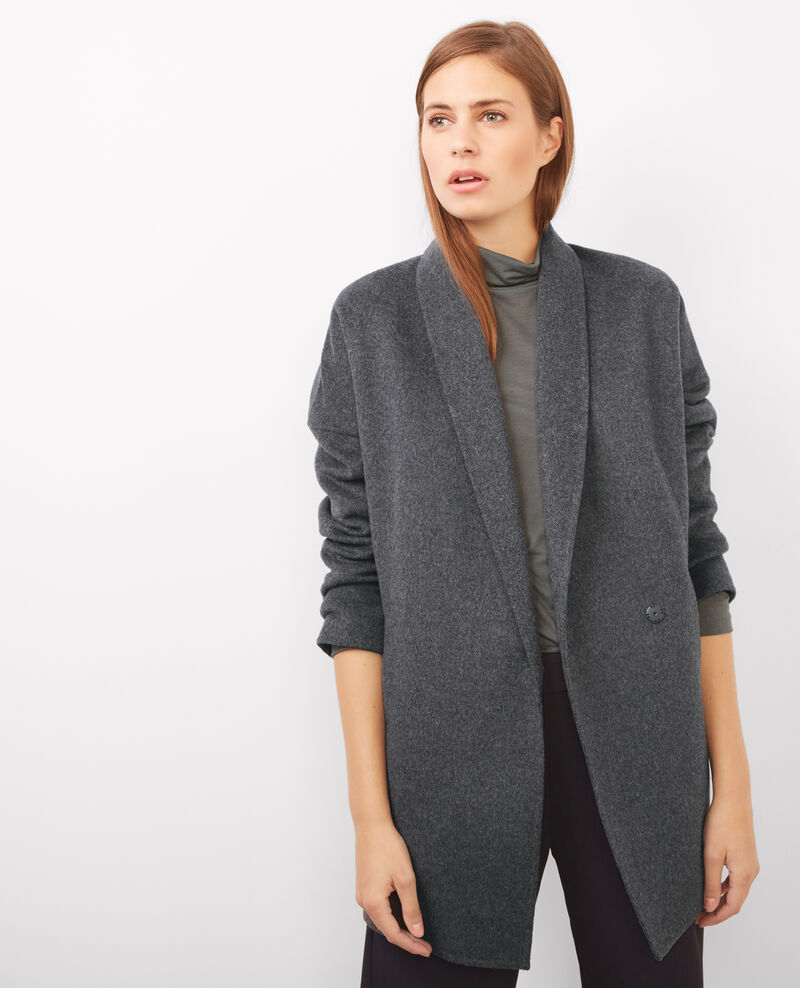 Wool coat Dark heather grey Bonbi