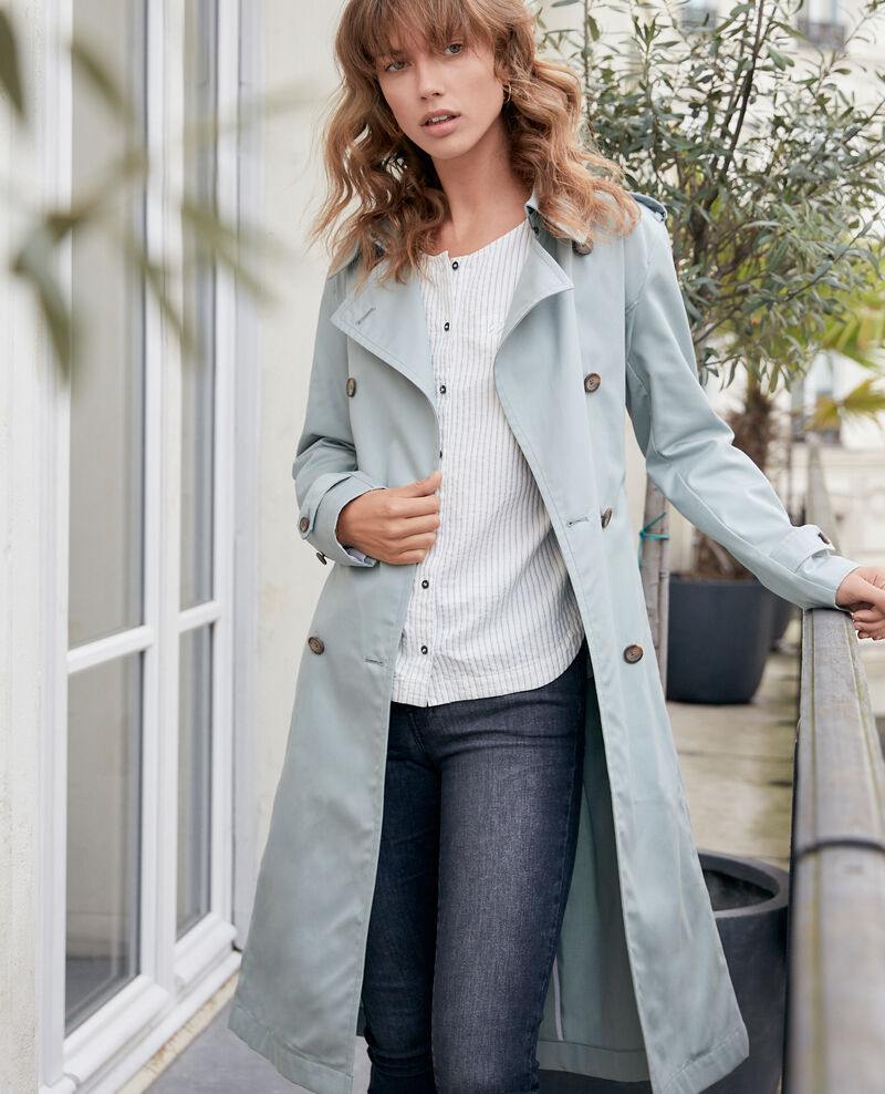 Iconic fit Trench coat SILVERGREEN
