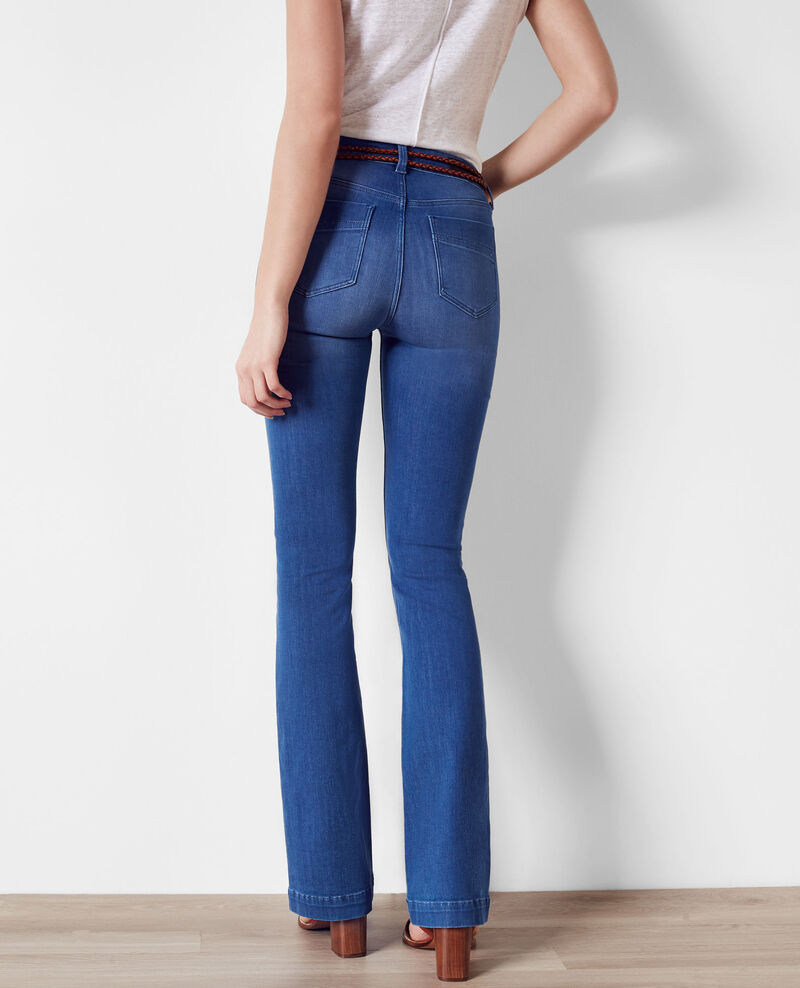 Folie douce high-waist flared jeans Cristal blue Clairiere