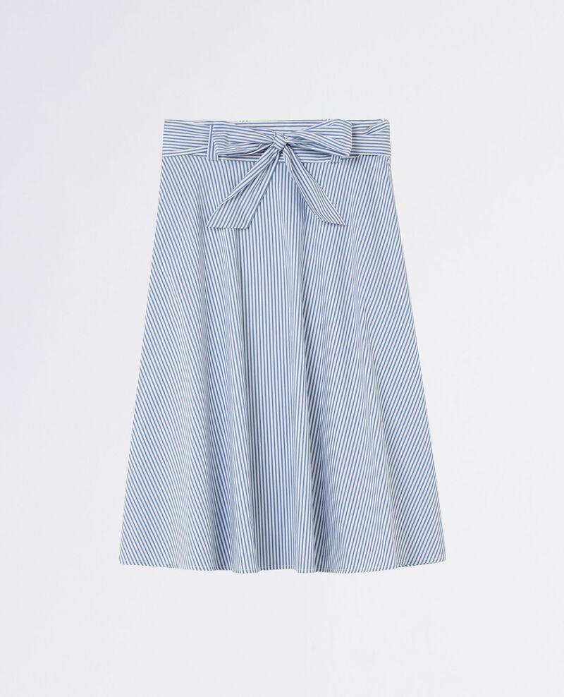 Striped midi skirt Indigo/white Camelia