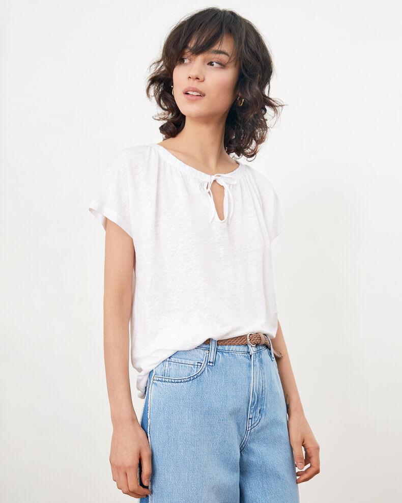 Linen T-shirt BLANC
