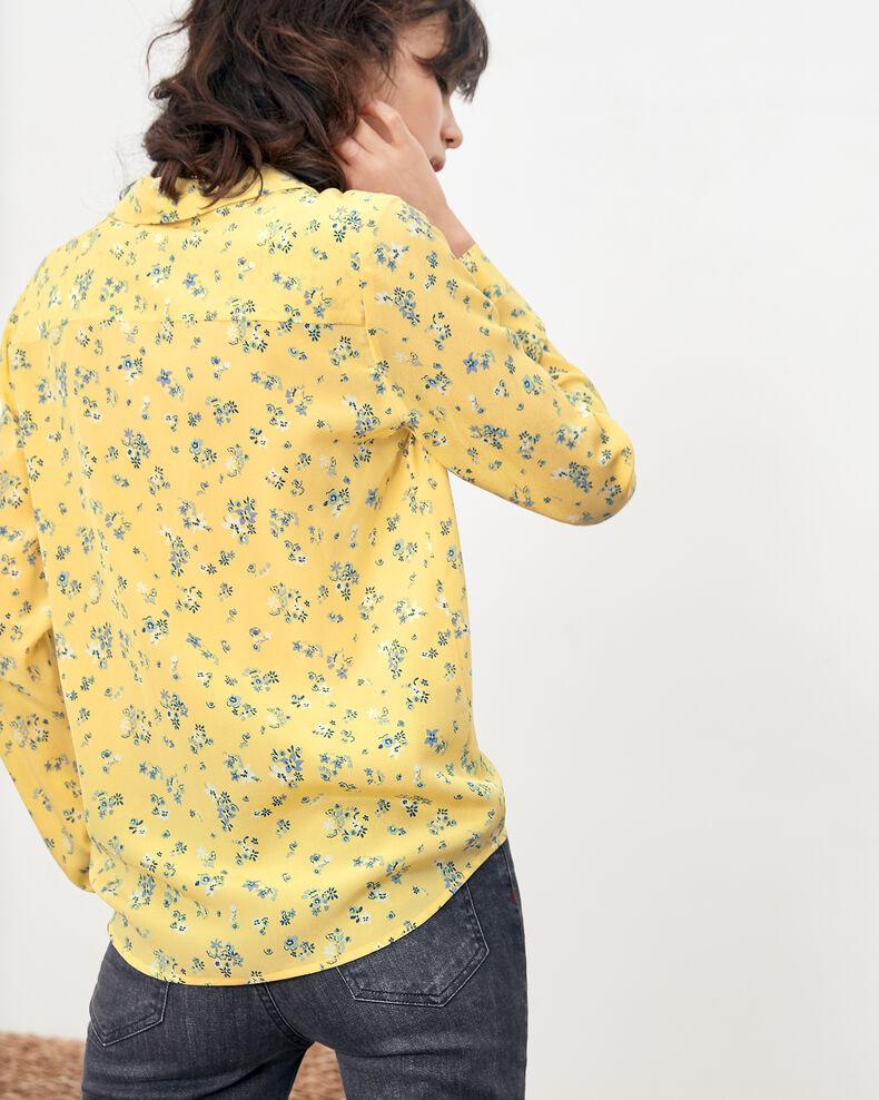 Printed silk shirt Lillybell lemon Follower