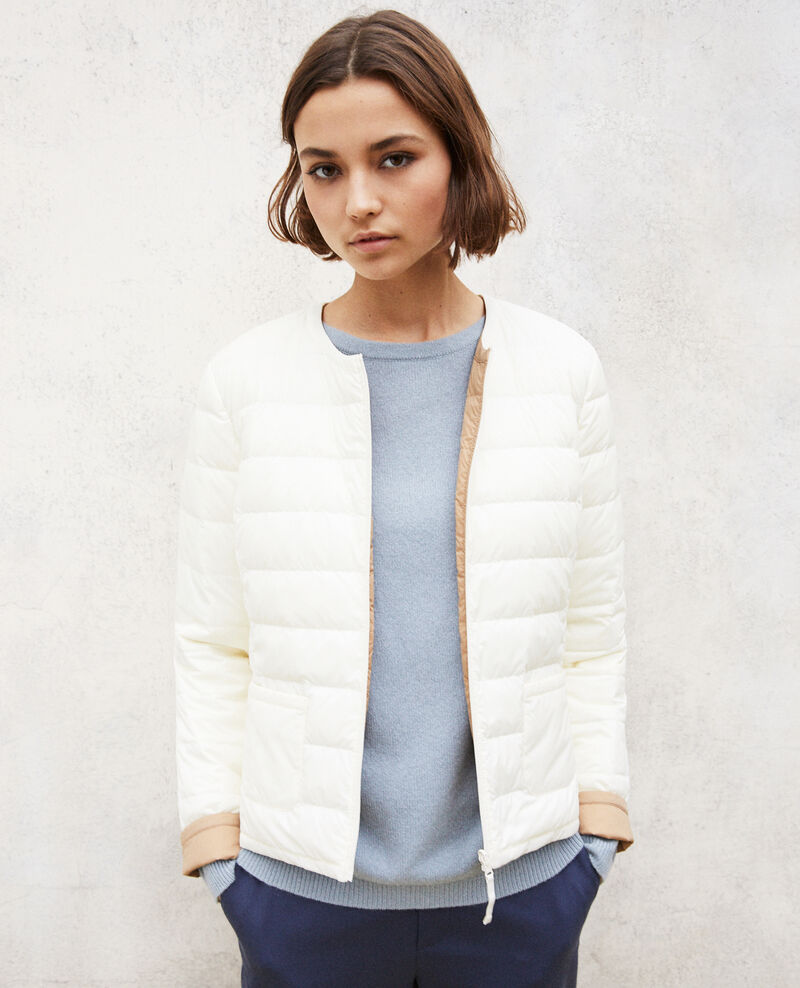 Reversible Mademoiselle Plume jacket BLANC/TANNIN