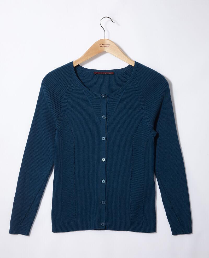 Cotton cardigan Majolica blue Genie