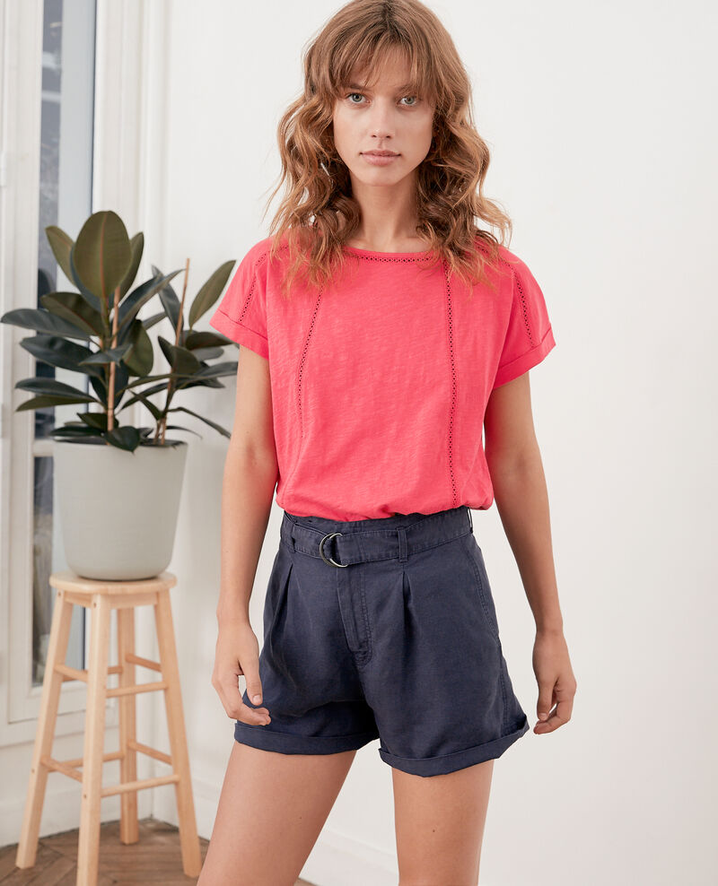 T-shirt with braid Ultra pink Fenouil