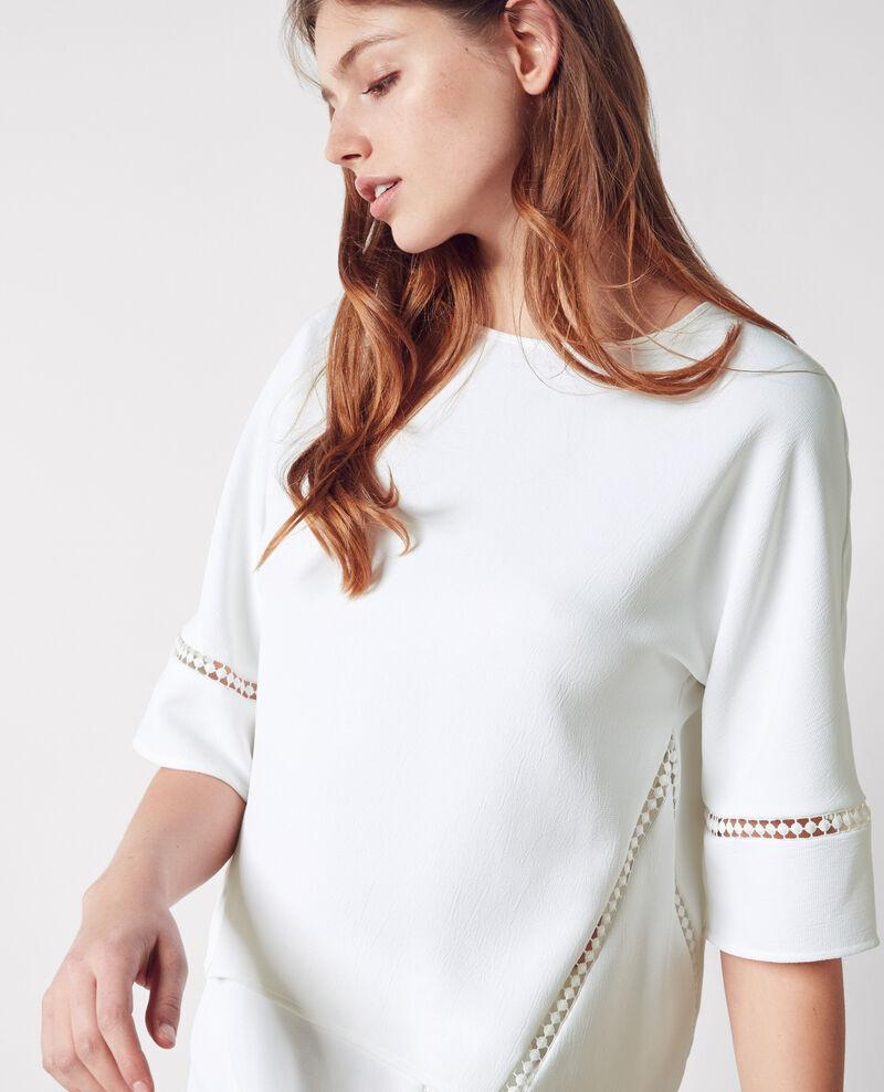 Japanese crêpe blouse Blanc Cyoto