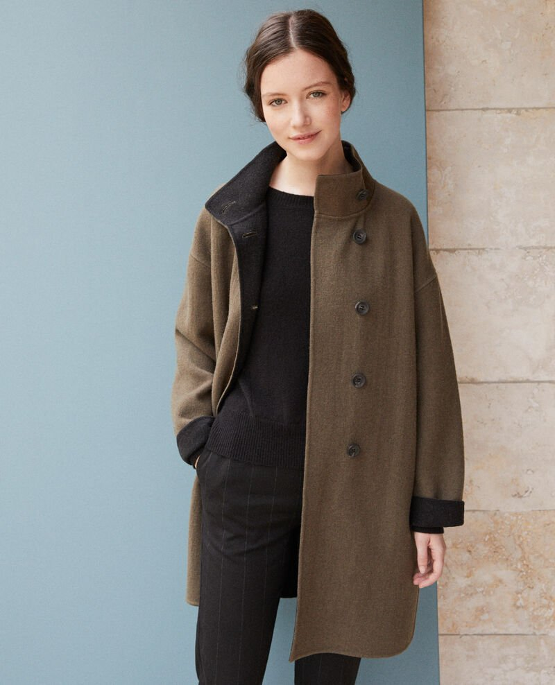 Coat with stand-up collar OLIVE NIGHT