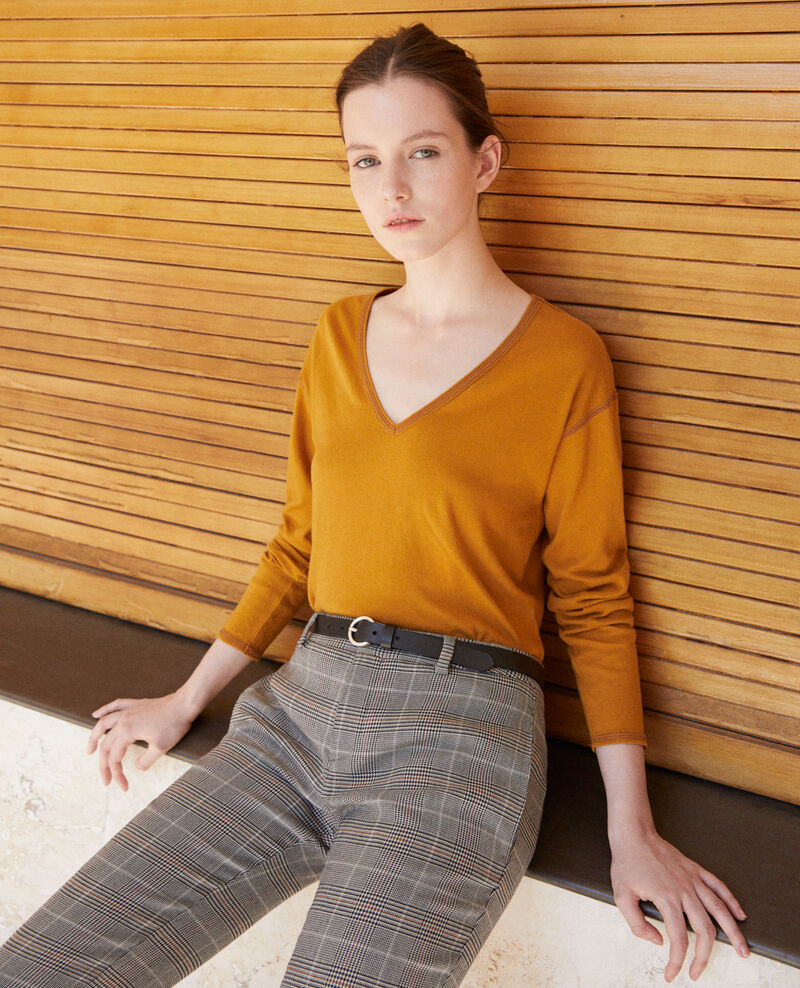 Cotton T-shirt Golden brown Gonia