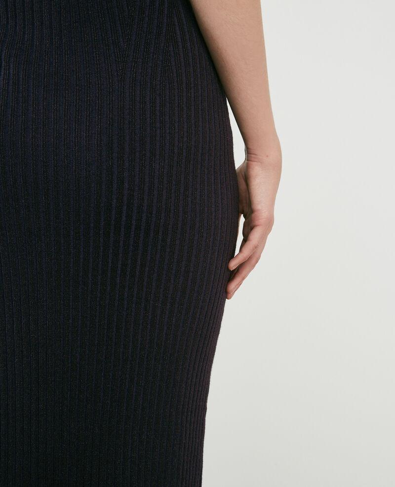 Ribbed knit skirt Noir Dali